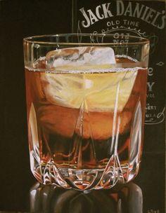 Whiskey on ice - WetCanvas