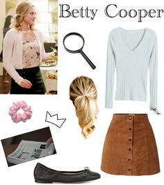 Betty Cooper created by carissalynn on ShopLook.io perfect for Celeb style. Visit us to shop this look. Tv Show Outfits, Mode Outfits, Girly Outfits, Casual Outfits, School Outfits, Betty Cooper Style, Betty Cooper Outfits, Spring Outfits Women, Spring Fashion Outfits