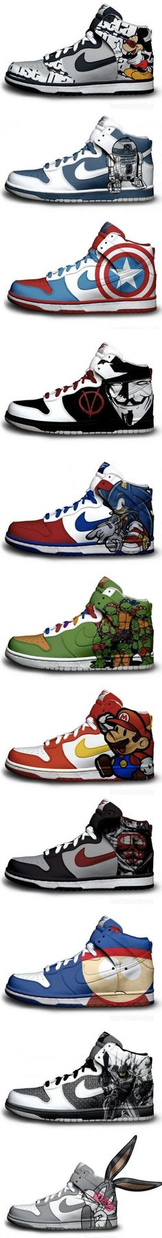 captain america and ninja turtle shoes?? Yes. Please. haha