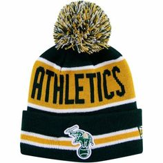 New Era Oakland Athletics The Coach Striped Knit Beanie - Green Oakland  Athletics 0161aaeda