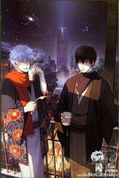 Gintama - Gintoki Sakata x Toushirou Hijikata - GinHiji Manga Anime, Anime Art, Gintama Wallpaper, Gekkan Shoujo Nozaki Kun, Another Anime, Shounen Ai, Fujoshi, Doujinshi, Hyouka