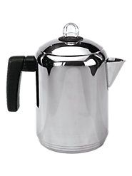 Like Strong Coffee? Stainless Steel Stove-Top Percolator Perks the Heartiest Brew