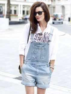 how to wear short overalls 11