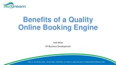Benefits of an Online Booking Engine by RezStream