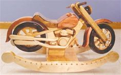 Roarin' Rocker Woodworking Plan The Roarin' Rocker is one of our most popular plans and for good reason, it's one cool rocker! Your little biker is gonna love rackin' up the rockin' miles on this bad