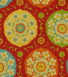 Home Decor Print Fabric-Richloom Studio Marmande Garden, , hi-res. Throw pillows. 34.99.
