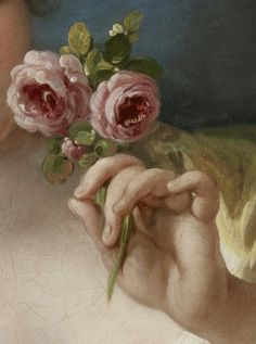 Girl with Roses (detail), Francois Boucher, c. 1760