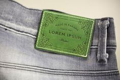 Hot printed leather label made in Italy by Panama Trimmings #denim #details…