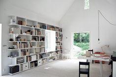 Bildresultat för platsbyggd bokhylla