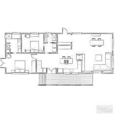 【遊び心の詰まったコンパクトスペース】素敵な屋外リビング・ダイニング付きの平屋の2LDK   住宅デザイン