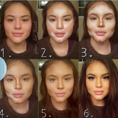 Make up tips for a round face. Make up tips for a round face. All Things Beauty, Beauty Make Up, Hair Beauty, Beauty Secrets, Beauty Hacks, Beauty Products, Beauty Care, Make Up Tricks, Make Up For Dummies