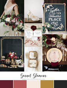 Garnet Glamour - Glittering Winter Wedding Inspiration in Garnet & Gold