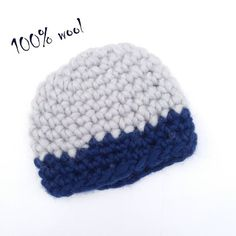 Pregnancy reveal gift Wool baby hat Winter hat Eco toque Warm baby wear  Chunky baby hat soft Casual baby hat Gray dark blue cap CHOOSE SIZE 49ba7bd71443