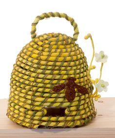 Look at this #zulilyfind! Large Yellow Beehive #zulilyfinds