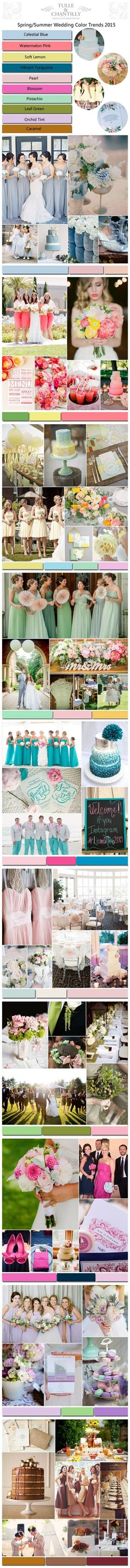 Top 10 Spring/Summer Wedding Color Ideas & Trends 2015 - See more at: http://www.tulleandchantilly.com/blog/top-10-springsummer-wedding-color-ideas-trends-2015-part-i