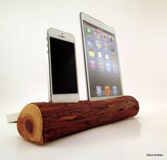 iPad Mini and iPhone 5 RedWood Docking Station  by dockartisan, $175.00
