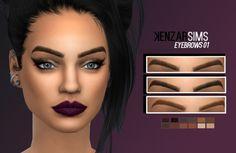 Eyebrows 01 at Kenzar Sims via Sims 4 Updates Check more at http://sims4updates.net/facial-hair/eyebrows-01-at-kenzar-sims/