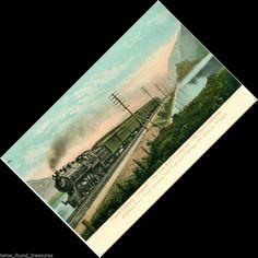 ta259 20TH CENTURY LIMITED NEW YORK CENTRAL LAKE SHORE RAILROAD TRAIN POSTCARD