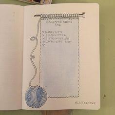 Sideoppsett i listeboka - for strikkere - Listelykke Bullet Journal Knitting, Bullet Journal And Diary, Journal Diary, Journal Prompts, Journal Ideas, Bullet Journal Examples, Bullet Journal Themes, Bullet Journal Layout, Bullet Journals