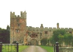 Naworth Castle in Cumbria near Brampton.It was the seat of the Barons Dacre & their descendants.Currently occupied by Philip Howard,brother/heir presumptive of the 13th Earl of Carlisle.The castle is thought to have late 13th-century origins,in the form of a square keep and bailey.It was first mentioned in 1323.In 1335 a licence to crenellate was granted to Ralph Dacre.Residential quarters were added in the 16th century by Thomas,Lord Dacre.The Castle has a well-preserved priest hole.