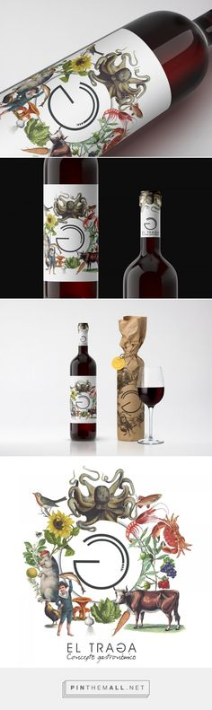 Bodegas El Traga - Packaging of the World - Creative Package Design Gallery - http://www.packagingoftheworld.com/2017/09/bodegas-el-traga.html