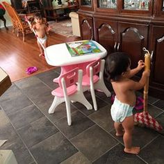 Instagram photo by itsjudytime - The girls cleaning up around Mama's house earlier today. No wonder she loves having them over #itsjudyslife