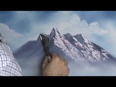 New Mountain - Painting Lesson painting acrylic tutorial New Mountain - Painting Lesson Acrylic Painting Tutorials, Painting Videos, Painting Lessons, Acrylic Art, Acrylic Painting Canvas, Bob Ross Paintings, Painting Snow, Mountain Art, Mountain Landscape
