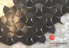 """ARSTYL® Wall Tiles, designed by Mac Stopa, win the """"Red Dot"""" for high design quality in both category """"Interior Design"""" & category """"Materials and Surfaces"""". Wall Tiles Design, Wall Decor, Room Decor, Higher Design, Painted Floors, Texture Design, 3d Wall, Material Design, Textures Patterns"""