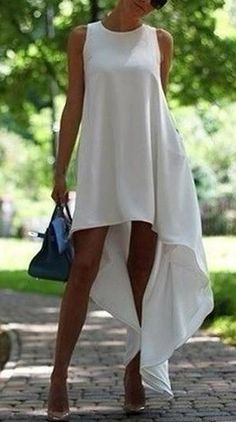Casual Oversize White Dress