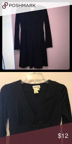 Cute black Flowy dress Sz Xs Perfect for Fall. No flaws. Max Studio Dresses Long Sleeve