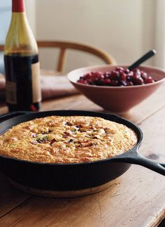 maple cornbread with bacon and scallions