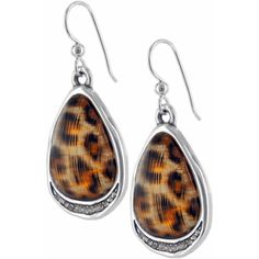 Brighton Trinity Leopard French Wire Earrings