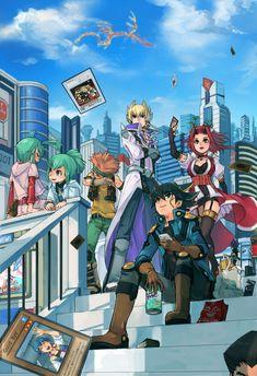 Tags: Fanart, Yu-Gi-Oh!, Yu-Gi-Oh 5Ds, Pixiv, Yu-Gi-Oh! GX, Yusei Fudo, Jack Atlas, Juudai Yuuki, Crow Hogan, Izayoi Aki, Misawa Daichi, Bru...