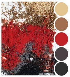 Pastel Feather Studio: SPICE TONES - color palette ►more find here: pastefeatherstudi. Color Palette For Home, Black Color Palette, Red Color Schemes, Colour Pallette, Color Combos, Lip Colour, Maroon Colour, Color Tones, Gold Colour