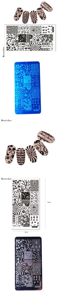 Sea Anchor Nail Art Stamping Sailing Template Image Plate Compass Design Manicure Stencil Set for Nail 3D Stamping