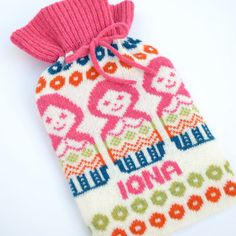 Personalised Knitted Russian Doll Knitted Hot Water by clovaknits, $66.30