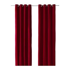 IKEA red velvet curtains