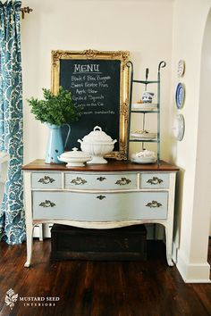 Furniture Feature Friday – Chalk Paint Giveaway & A Link Party