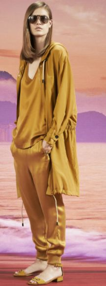 slouchy gold tracksuit set