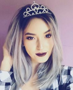 ~Love the tiara 👸🏼. Ami Rodriguez, Braids, Hair Beauty, Queen, Actors, Squat, Cami, Pikachu, Disney