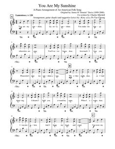 Easy Piano Sheet Music, Free Sheet Music, Music Sheets, Violin Music, Piano Songs, Music Theory Lessons, Art Lessons, American Folk Songs, Camp Songs