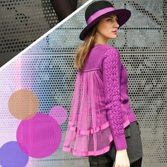 Splicing Lace Loose Solid Color Sweater