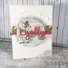 We absolutely love the retro feel of the reindeer featured in the Home for Christmas designer series paper.