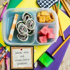 Salami, Olive, and Cream Cheese Pinwheels   23 Pinwheel Snacks That Taste As Good As They Look