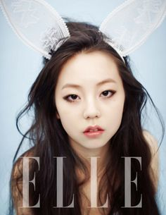 Sohee for Elle Magazine. #wondergirls    Can I just have your hair??