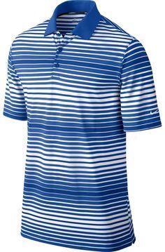 Nike Key Bold Heather Stripe Polo 585824   Discount Golf World