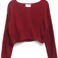 Must-Have Cropped Sweater - OASAP.com