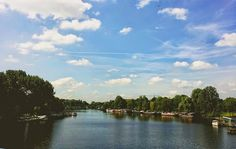 A view of the Amstel river.