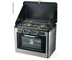 Camping Gaskocher mit Backofen, 30mbar, Piezo und Zündsicherung Ofen und Kocher