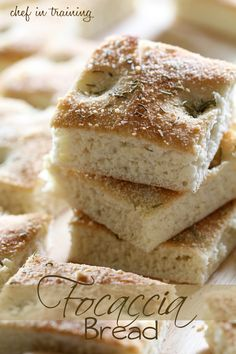 Focaccia Bread ~ This bread is so delicious and very easy to whip up! It is a great side dish to any Italian meal!